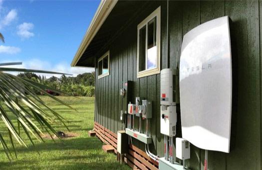 Tesla powerwall on Maui home